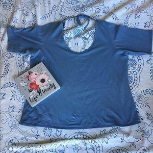 Venezia Jeans- Short Sleeve Tee with Tie neck